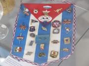 Wimpel von Kuba mit Abzeichen beteiligter Nationen an der Junioren-Weltmeisterschaft im Rudern 1985 in Brandenburg an der Havel, Leihgabe: Jörg Schütz