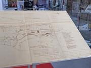 Blick auf den Regattastreckenplan von 1967/1984, Architekt: Hartmut Töpel, Leihgabe: Hartmut Töpel/Regattastrecke Beetzsee