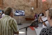 Der interessante Dokumentarfilm zur Geschichte der Regattastrecke wird den Eröffnungsgästen präsentiert.
