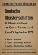 Deutsche Meistersachften im Kanurennsport