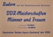DDR Meisterschaft im Rudern Männer und Frauen